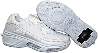 Elara Damen Herren Kinder Rollschuhe Sportschuhe Schuhe mit Rollen Laufschuhe Runners Sneakers 1513 Weiss 30