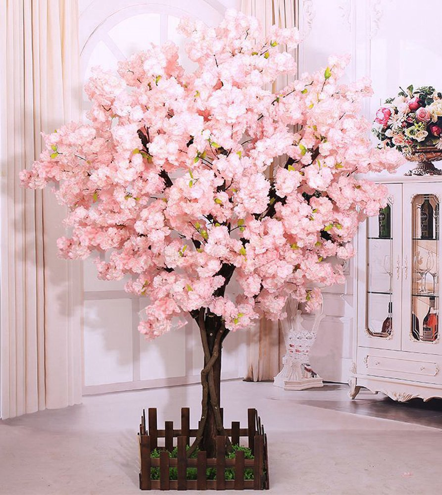 J Beauty Cherry Blossom Tree Thick Cherry Flower Artificial Plant For Indoor Outdoor School Party Restaurant Mall Silk Flower 5ft T Buy Online In Antigua And Barbuda At Antigua Desertcart Com Productid 128411650