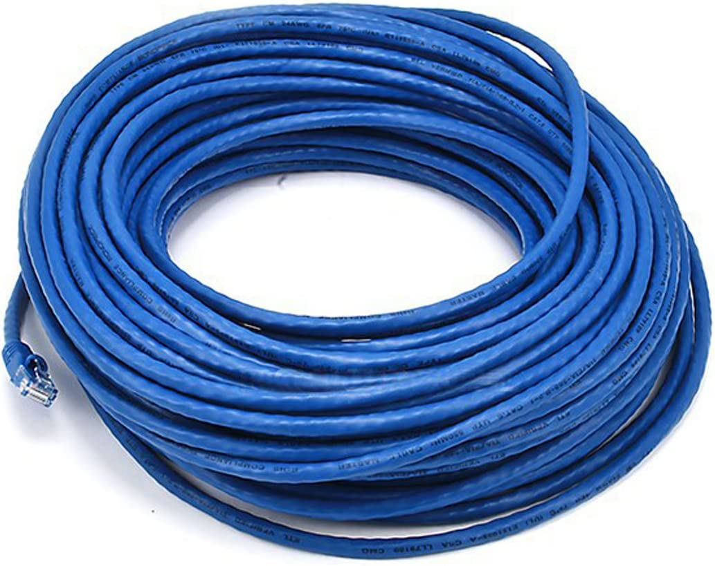 Monoprice 100FT Cat5e 350MHz UTP Ethernet Network Cable Blue