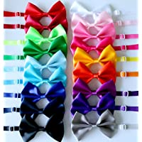 Yagopet 20pcs Pet Dog Bow tie Dog Bowtie Collar Mix 18 Colors Solid Dog Ties Adjustable Pet Pet Collars Dog Grooming…