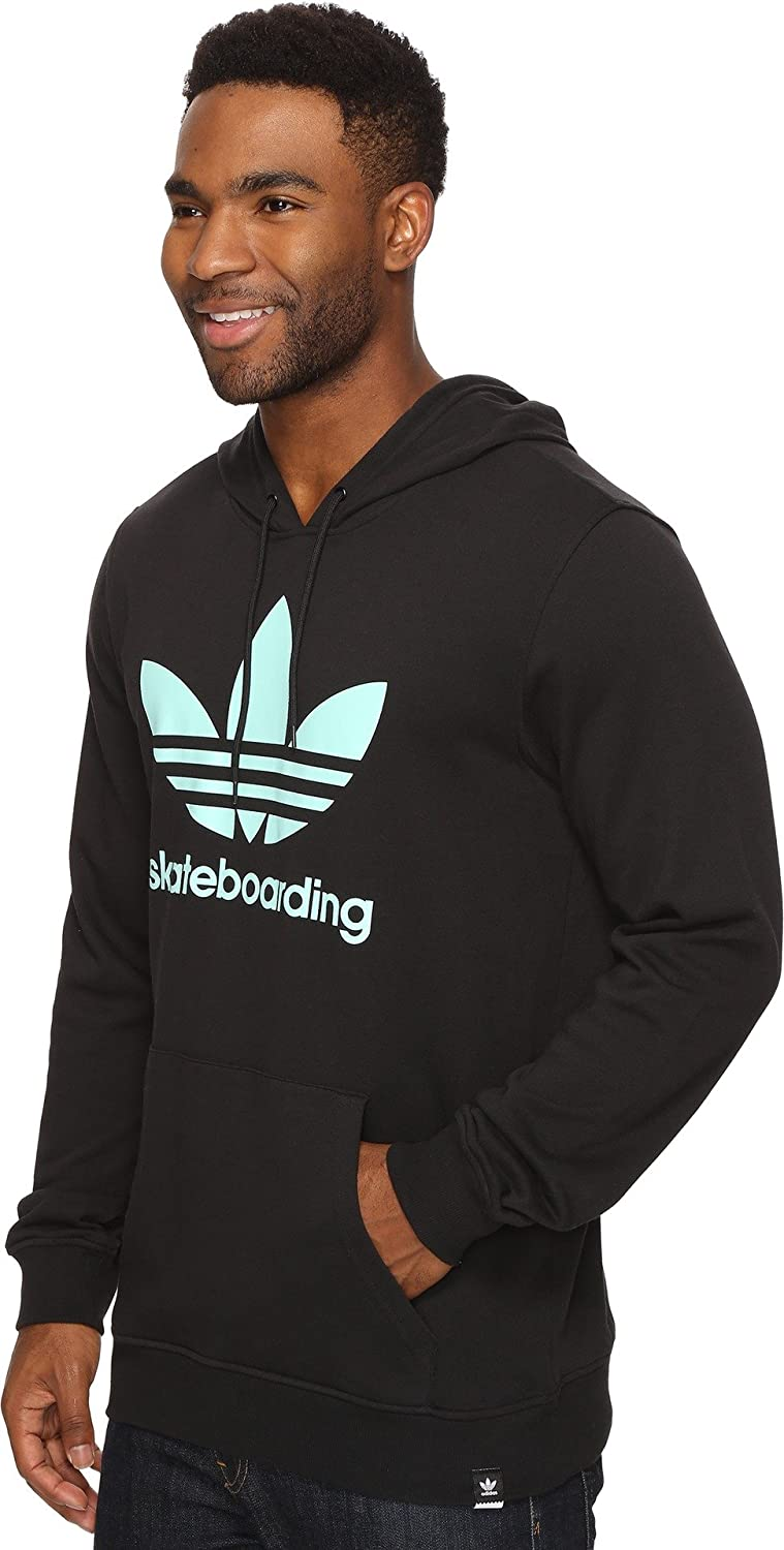 Black//Ice Green adidas Originals Mens Outerwear Skateboarding Clima 3.0 Solid Hoodie XX-Large