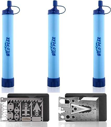 Wild Peak Stay Alive-1 Outdoor Water Filter Survival Straw 4000 Liters 2-Pack