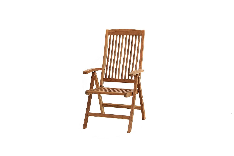 Ploß Hochlehner-Klappsessel Arlington - Premium Teakholz-Sessel mit ...