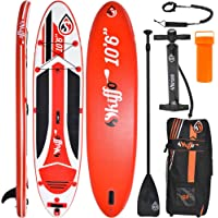 Skiffo XY 10 foot 6 inch Stand Up Paddle Board set, 320 cm x 76 cm x 15 cm inflatable board, aluminium paddle, pump