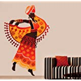 Decals Design 57080 StickersKart Wall Stickers Beautiful Arabian Dancer (Wall Covering Area: 80cm x 70cm (Multicolor)