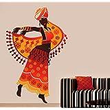 Decals Design 'Beautiful Arabian Dancer' Wall Sticker (PVC Vinyl, 70 cm x 50 cm),Multicolour