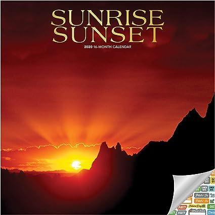 Calendrier 2021 Lever Et Coucher Du Soleil Kit calendrier 2020 avec lever de soleil et coucher de soleil