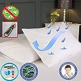 Impermeable AntiAllergy carcasa completa funda de colchón con cremallera protector de pantalla para ácaros, bacterias
