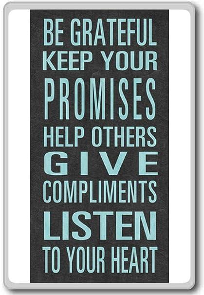 Amazoncom Be Grateful Keep Your Promises Motivational