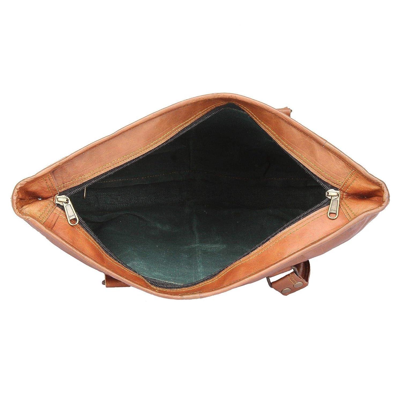 12x17 Women Gift Vintage Genuine Brown Leather Tote Shoulder Bag Handmade Purse