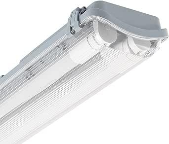 LEDKIA LIGHTING Pantalla Estanca Slim para dos Tubos LED 600mm PC/PC Conexión un Lateral 600 mm: Amazon.es: Iluminación