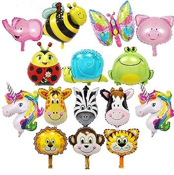 10-Pack LAKIND Folienballon Tiere 10-Pack Tierballons Tier Ballons Luftballons Kindergeburtstag Helium ist Erlaubt Perfekt f/ür Kinder Geburtstag Party Dekoration
