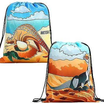 Amazon.com: Mochila de dinosaurio con cordón para niños y ...