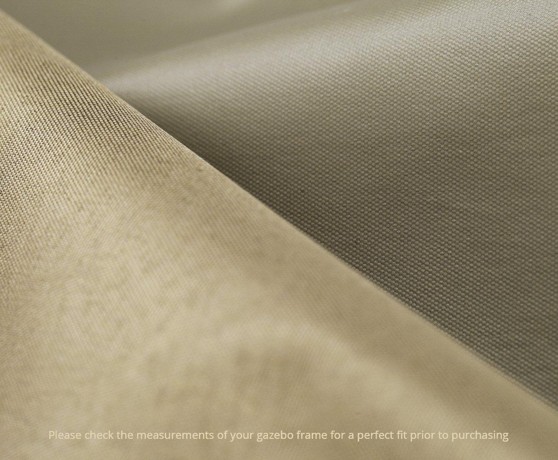 Kenley Telo di Ricambio Top di Copertura per Tetto Gazebo Giardino Beige 3 x 3m