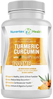 Turmeric Curcumin with Bioperine Joint Pain Relief - Made in USA- Anti-Inflammatory,