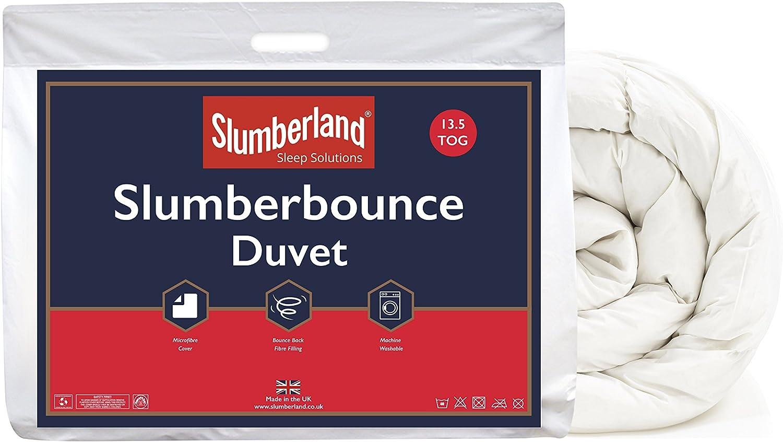 Slumberland Slumberbounce 13.13 Tog Duvet, Microfibre White, Double