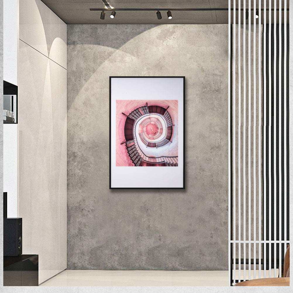 MOTINI Motivational Painting Staircase of Dreams Photograph of A Spiral Staircase Abstract Acrylic Painting Print Framed Wall Art 23 X 35