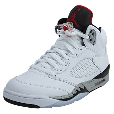 online store 5e148 bb45e Jordan Air 5 Retro Inchwhite Cement - White Mens