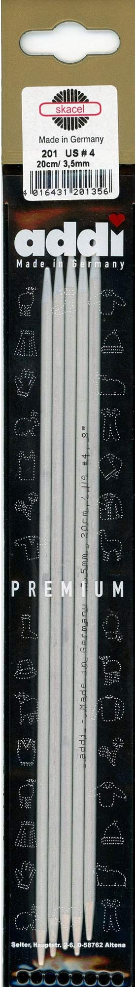 15/cm Addi 201/ 2/mm /7/Aguja de Aluminio Color Gris Perla