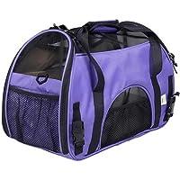 Transportín de viaje para mascotas, pequeño y grande, para gatos y perros, aprobado para viajar en avión, portátil, suave, ligero