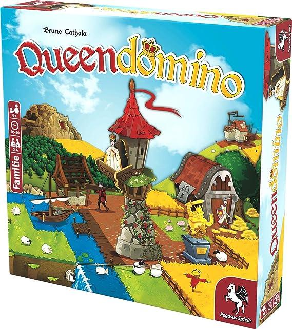 Pegasus Spiele 57130G Queendomino - Juego de Mesa (Contenido en alemán): Amazon.es: Juguetes y juegos