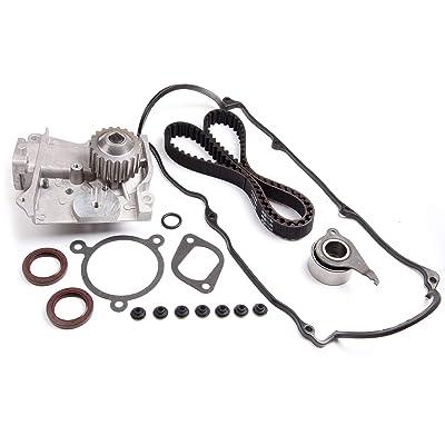 cciyu Timing Belt Water Pump with Gasket Tensioner Bearing Valve Cover Gasket Fits 1986 1987 Mazda 626 1986 1987 Mazda B2000 2.0L 1998CC: Automotive