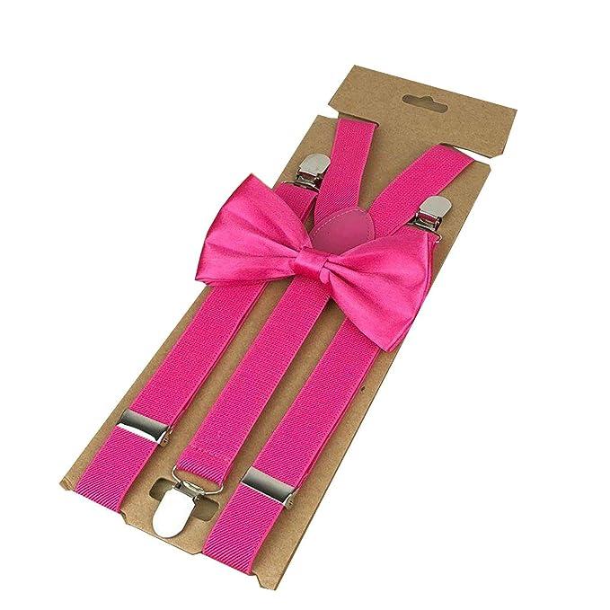 FLY-plant Corbata de Lazo para Mujer, Color Rojo y Rosa, con 3 ...