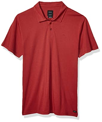 RVCA Mens Sure Thing II Polo Shirt, Brick Red, L: Amazon.es: Ropa ...
