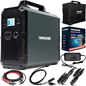 Raver1800 Portable Power Station 1800Wh - Inverter Solar Generator 1000 Watts for Home Use, Emergency Battery Backup, rv, Cpap Charger, Camping - 120V Ac & Mppt Outdoor Solar Powered Outlet