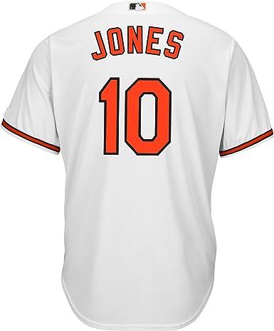 Adam Jones Baltimore Orioles #10 Blanco Juventud Base fresca Casa Réplica Jersey