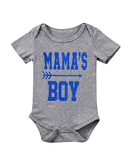5d071f9ec38b BELS Summer Infant Baby-Boys Twin Brothers Mama s Boy Cute Letter Print  Short Sleeve White