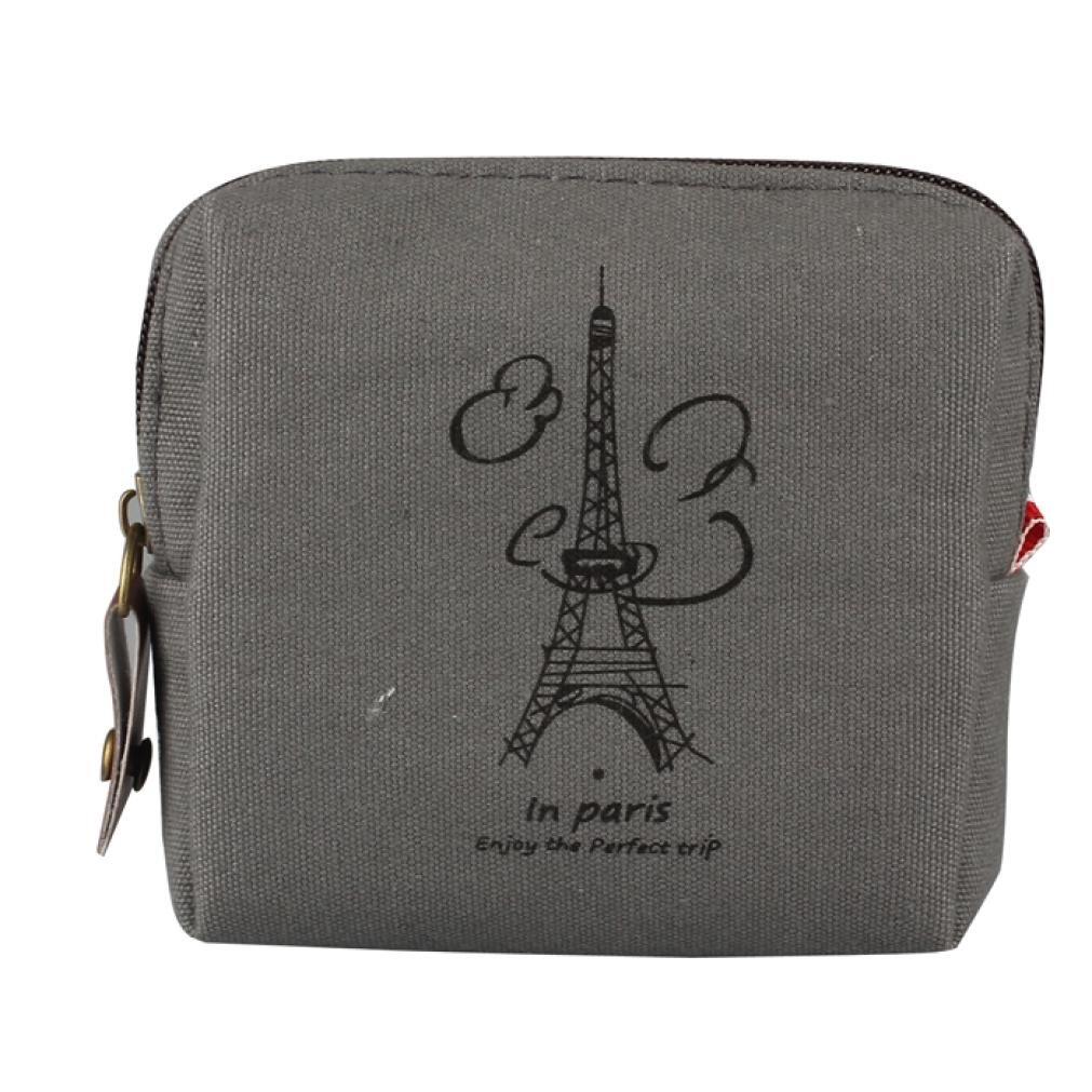 Wallet,toraway Womens Mini Retro Lady Purse Wallet Zipper Card Holders Clutch Handbags (Gray)