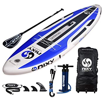 NIXY Newport SUP Inflatable Stand Up Paddle Board. All Around Lightweight iSUP built with Dual Layer Fusion Dropstitch. All Accessories included ...