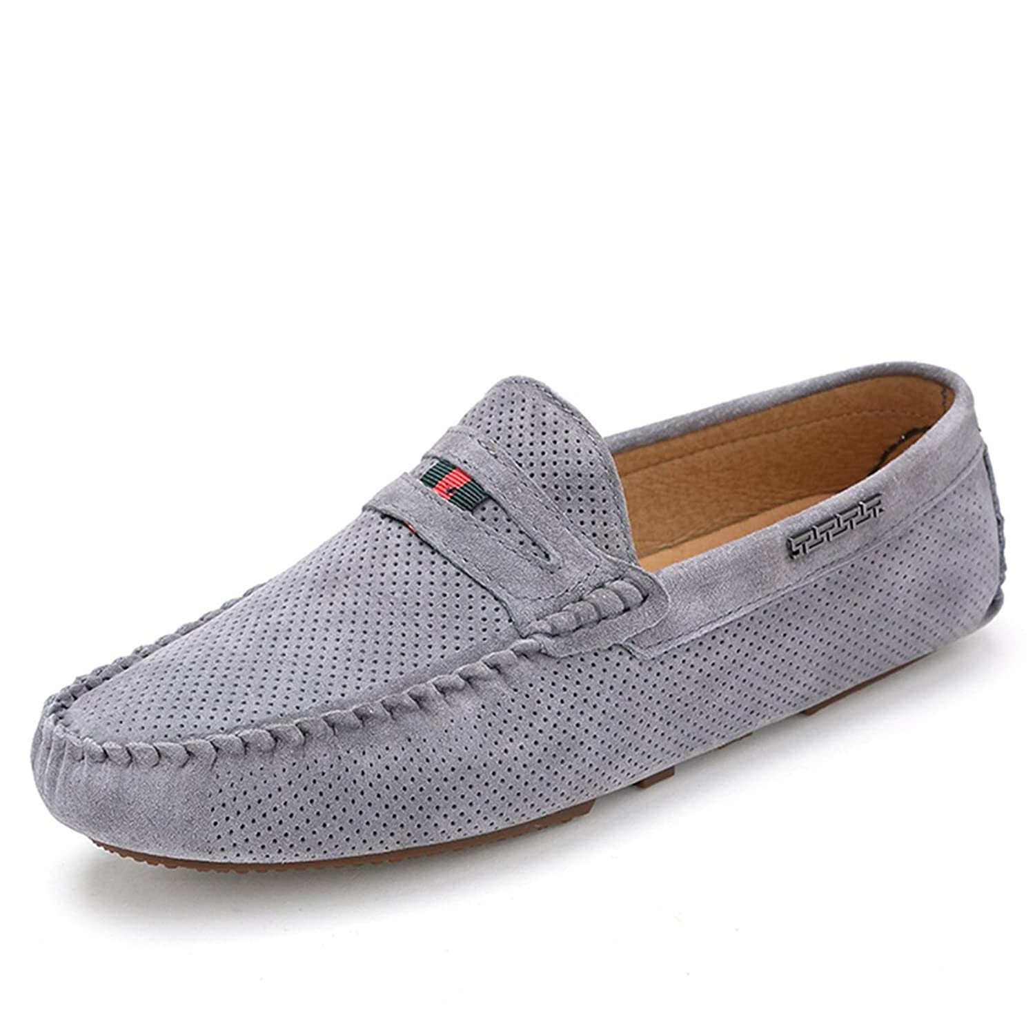 Cheap Mizuamor Mens Suede Penny Loafer Flats Casual Leather Shoe
