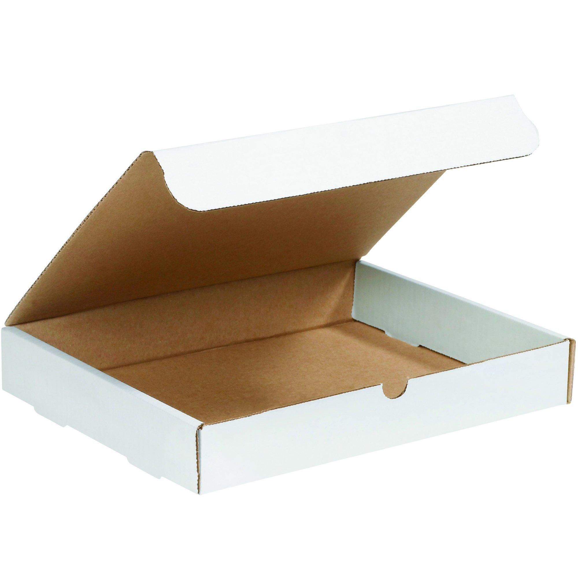 BOX USA BML15122 Literature Mailers, 15'' x 12'' x 2'', White (Pack of 50)