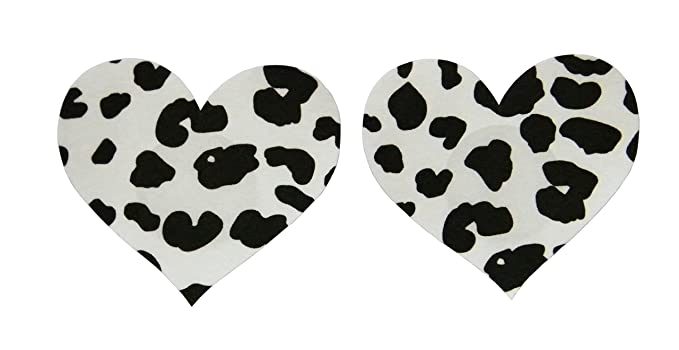1059e5623c2e4 TX-Originality 10 Pairs Pasties Disposable Nipple Covers Black and White  Cow Pattern (A