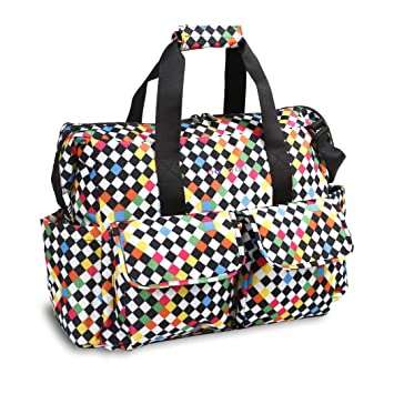 2c25623cff Girls Multi Cross Checkered Pattern Carry on Duffle Bag