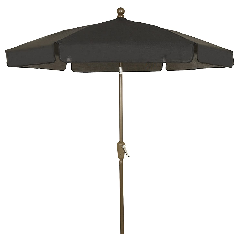 295c030b0785d Amazon.com : FiberBuilt Umbrellas Garden Umbrella, 7.5 Foot Black Canopy  and Champagne Bronze Pole : Patio Umbrellas : Garden & Outdoor