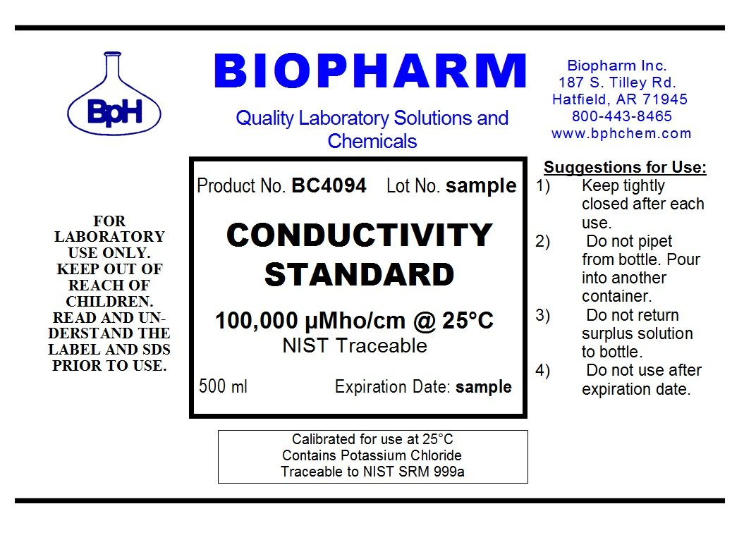 Conductivity Calibration Standard 3-Pack 500 ml Each 1000 US, 10,000 uS and 100,000 uS by Biopharm (Image #4)