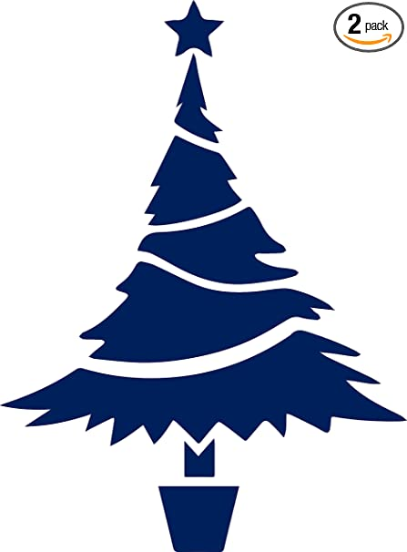Christmas Tree Icon.Amazon Com Christmas Tree Icon Navy Blue Set Of 2