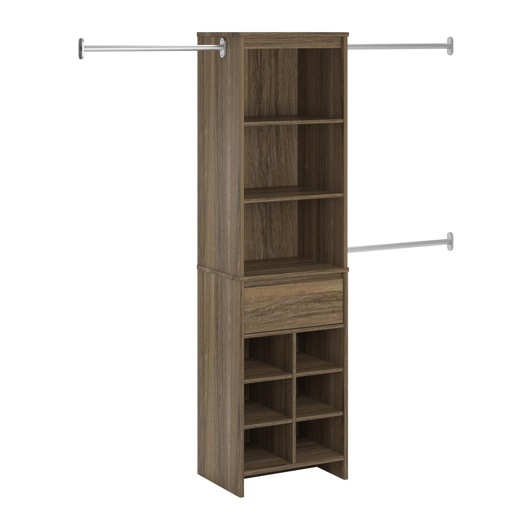 Ameriwood Home Adult Closet System, Weathered Oak