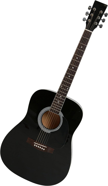 Navarra NV31 - Guitarra acústica con bolsillo, color negro: Amazon ...