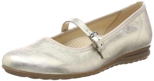 Gabor Shoes Comfort, Ballerines Femme, Poudre Métallisée (Platino), 42 EU
