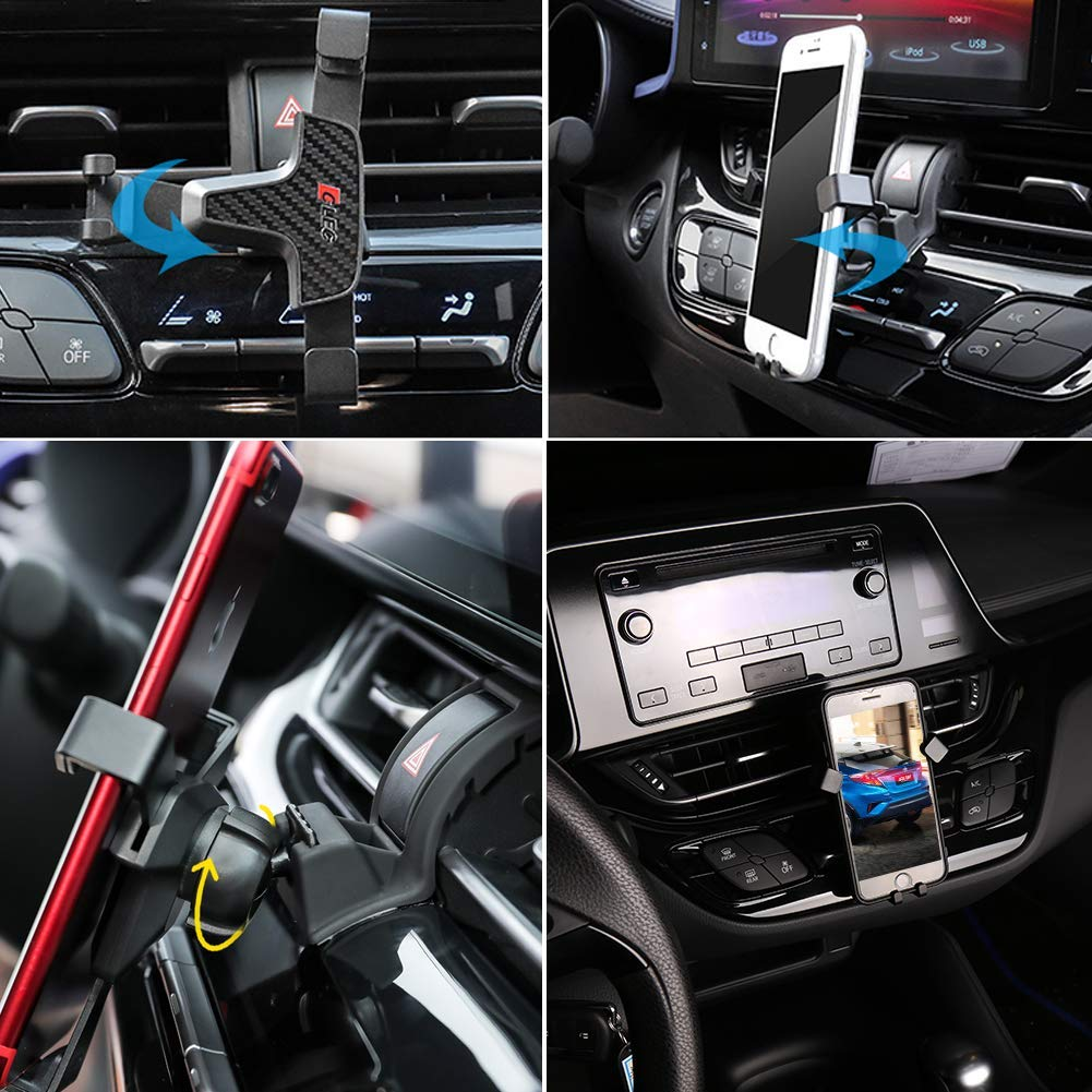 RUIYA Soporte M/óvil Soporte para Tel/éfono Coche Rejillas del Aire 360 Grados Rotaci/ón Soporte Tel/éfono Coche Ventilaci/ón para 2016 2017 2018 Toyota CHR tel/éfono de 4-6 Pulgadas