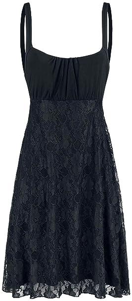 Black Premium by EMP Alone In The Dark Mittellanges Kleid