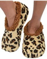 Snoozies Animal Print Fleece Lined Womens Footies