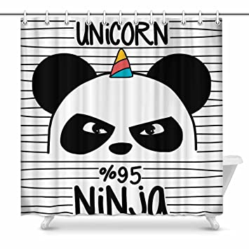 Amazon.com: INTERESTPRINT Cute Panda Home Bath Decor, Ninja ...