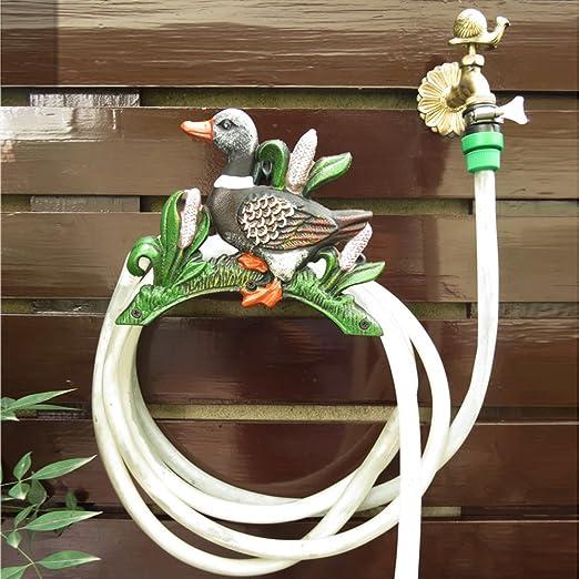 Sungmor Soporte para manguera de jardín de hierro fundido resistente, montaje en pared, colgador de manguera decorativo, decoración de jardín antiguo y patio, Duck(24.5L*14.5W*19.5Hcm): Amazon.es: Jardín
