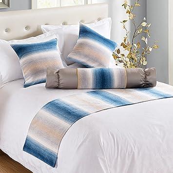 BSNOWF-Table Runner Cama Runner Toalla De Cama Hotel Ropa De Cama Ropa De Cama Hotel Club House (Color : Azul , Tamaño : 50*240cm) : Amazon.es: Hogar