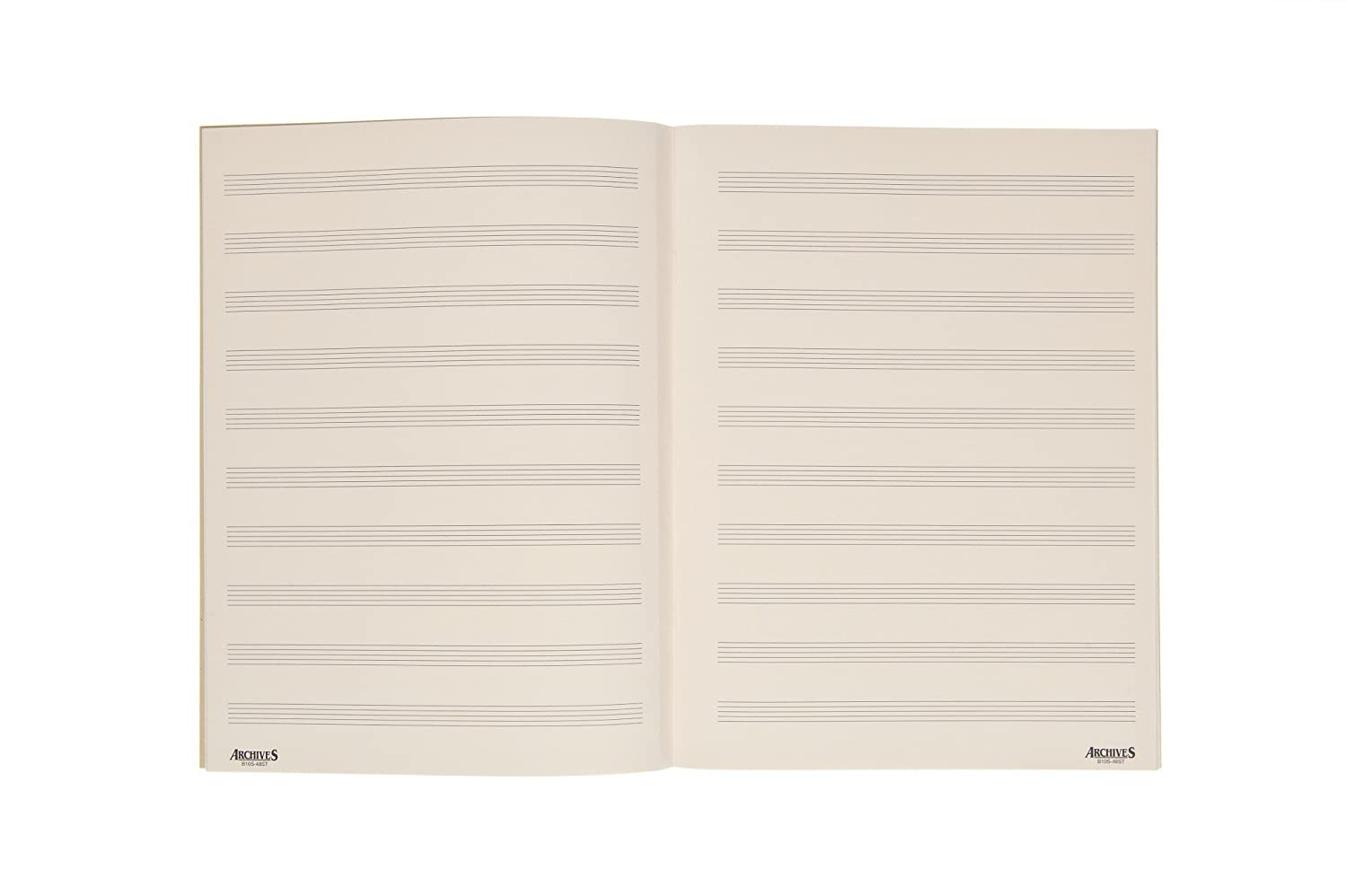 Archives Spiral Bound Manuscript Paper Book, 10 Stave, 48 Pages D'Addario &Co. Inc B10S-48